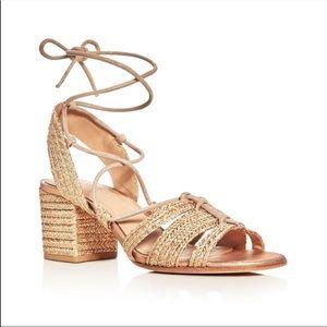 Pour La Victorie Amada Raffia Lace Up Sandals